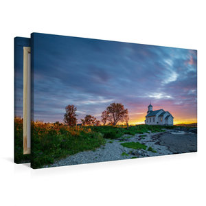 Premium Textil-Leinwand 90 cm x 60 cm quer Mitternachtsonne Gim
