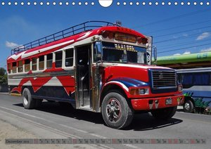 Land der bunten Busse - Guatemala (Wandkalender 2019 DIN A4 quer