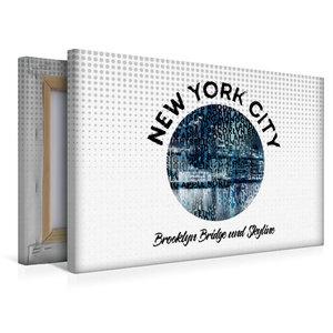 Premium Textil-Leinwand 45 cm x 30 cm quer Graphic-Art NEW YORK