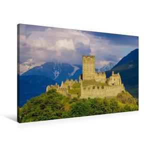 Premium Textil-Leinwand 90 cm x 60 cm quer Castello di Cly