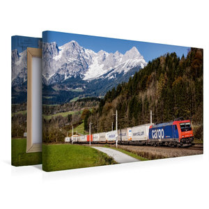 Premium Textil-Leinwand 45 cm x 30 cm quer Schweiz meets Pongau