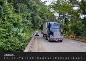 Trucks zwischen Panama und Costa Rica. (Wandkalender 2019 DIN A3