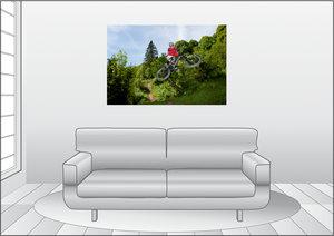 Premium Textil-Leinwand 120 cm x 80 cm quer Les Gets/France