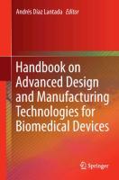 Handbook on Advanced Design and Manufacturing Technologies for B - zum Schließen ins Bild klicken