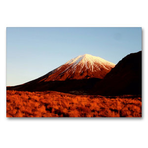 Premium Textil-Leinwand 90 cm x 60 cm quer Mount Ngauruhoe im Ab