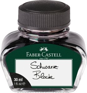 Tintenglas Schwarz 30 ml