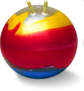 TOGU 360350 - Sprungball Super Rainbow, Hüpfball, 60 cm