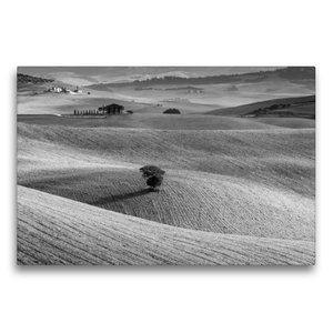 Premium Textil-Leinwand 75 cm x 50 cm quer Solitaire im Val d\'O