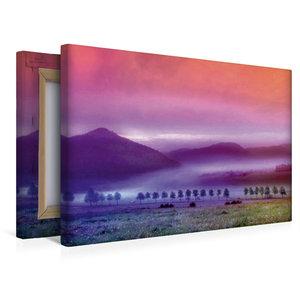 Premium Textil-Leinwand 45 cm x 30 cm quer Nebelland