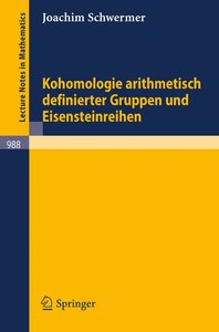Kohomologie arithmetisch definierter Gruppen und Eisensteinreihe
