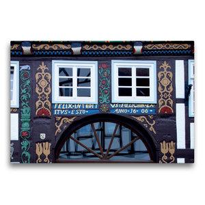 Premium Textil-Leinwand 75 cm x 50 cm quer Das Doktorhaus in Blo