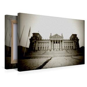 Premium Textil-Leinwand 45 cm x 30 cm quer Reichstag