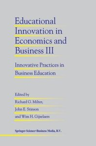 Educational Innovation in Economics and Business III