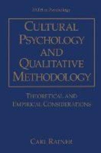 Cultural Psychology and Qualitative Methodology