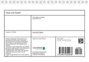 Haut und Faden (Tischkalender 2020 DIN A5 quer)