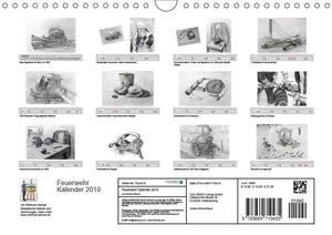 Feuerwehr Kalender 2019 (Wandkalender 2019 DIN A4 quer)