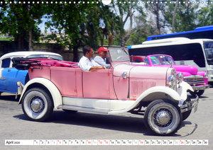 Ford Modell A - Ein rüstiger Neunzigjähriger in Havanna (Wandkal