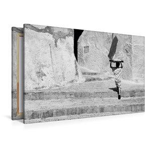 Premium Textil-Leinwand 120 cm x 80 cm quer Bäckerjunge in Marok