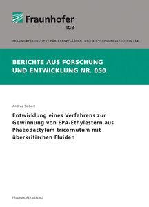 Entwicklung eines Verfahrens zur Gewinnung von EPA-Ethylestern a