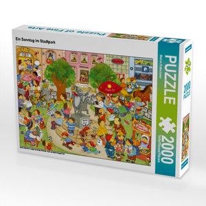 Ein Sonntag im Stadtpark 2000 Teile Puzzle quer