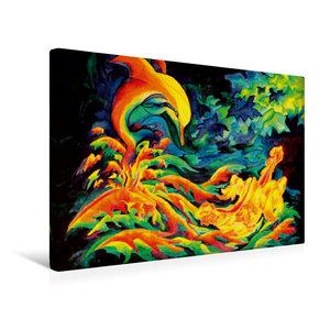 Premium Textil-Leinwand 45 cm x 30 cm quer Geflügelter Herbst