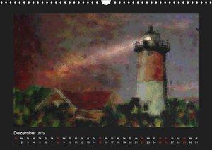 Leuchttürme bei Nacht (Wandkalender 2019 DIN A3 quer)