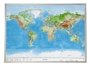 Welt Gross 1 : 53.000.000 mit Aluminiumrahmen