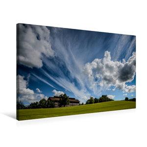 Premium Textil-Leinwand 75 cm x 50 cm quer Wolken ziehen über da