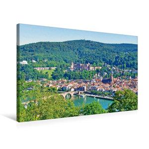 Premium Textil-Leinwand 75 cm x 50 cm quer Heidelberger Altstadt