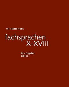 fachsprachen X - XVIII