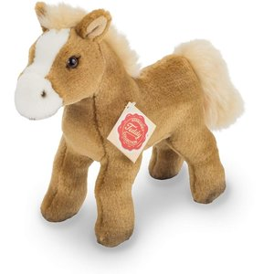 Teddy Hermann 90263 - Pferd mit Stimme, hellbraun, stehend, 19 c