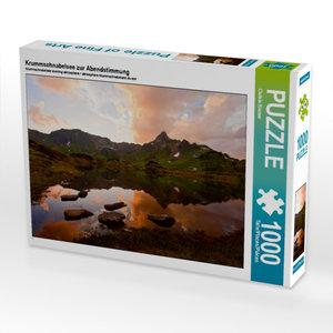 Krummschnabelsee zur Abendstimmung 1000 Teile Puzzle quer