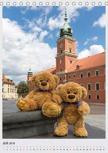 Travelling Teddy in Europa (Tischkalender 2018 DIN A5 hoch)