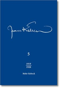 Veröffentlichte Schriften 1919-1920