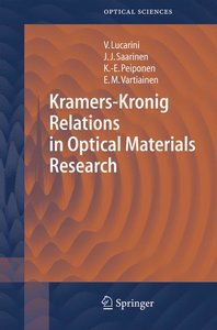 Kramers-Kronig Relations in Optical Materials Research