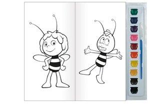 """Malbuch mit Tuschkasten """"Die Biene Maja"""""""
