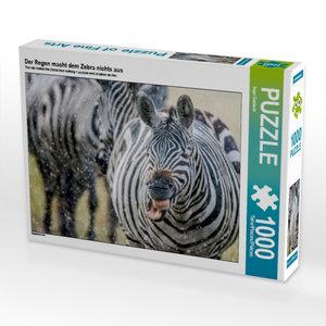 Der Regen macht dem Zebra nichts aus 1000 Teile Puzzle quer
