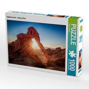 CALVENDO Puzzle elephant rock - valley of fire - 1000 Teile Lege