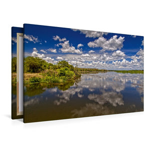 Premium Textil-Leinwand 120 cm x 80 cm quer Wolken über dem Nil