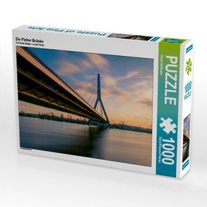 Die Fleher Brücke 1000 Teile Puzzle quer