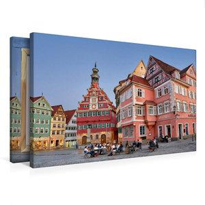 Premium Textil-Leinwand 75 cm x 50 cm quer Das Alte Rathaus von