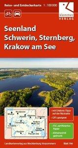 Reise- und Entdeckerkarte Seenland Schwerin, Sternberg, Krakow a