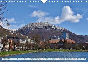 Wunderschönes Bergen. Norwegens Tor zum Fjordland (Wandkalender