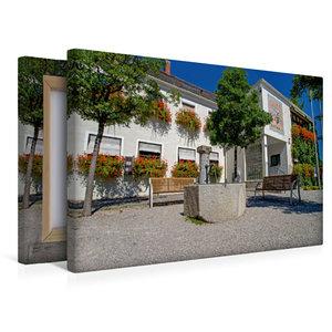 Premium Textil-Leinwand 45 cm x 30 cm quer Rathaus Kirchheim bei