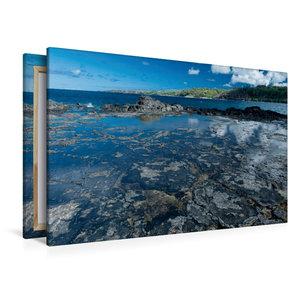 Premium Textil-Leinwand 120 cm x 80 cm quer An der Kahili Bay