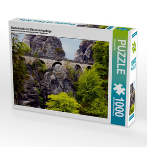 CALVENDO Puzzle Basteibrücke im Elbsansteingebirge 1000 Teile Le