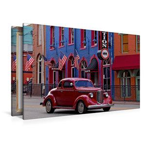 Premium Textil-Leinwand 120 cm x 80 cm quer Central City