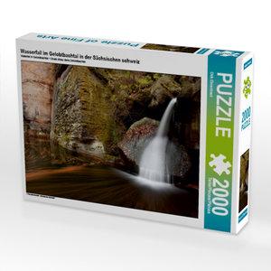 CALVENDO Puzzle Wasserfall im Gelobtbachtal in der Sächsischen s