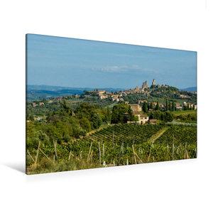 Premium Textil-Leinwand 120 cm x 80 cm quer San Gimignano