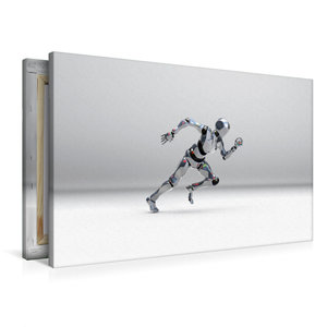 Premium Textil-Leinwand 90 cm x 60 cm quer Roboter